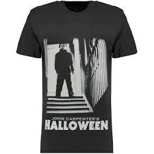 mens black halloween myers print t shirt