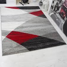 Wohnzimmer Schwarz Rot Designer Wohnzimmer Teppich Geometrisches Muster Meliert Blau Grün