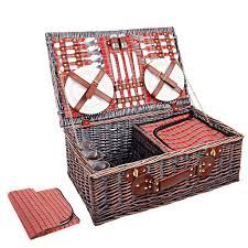 picnic basket set for 4 4 person picnic basket set w cooler bag blanket picnic basket shop
