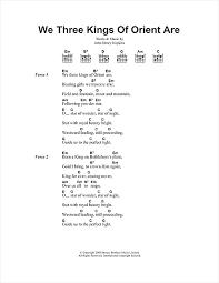 Star Light Star Bright Lyrics We Three Kings Of Orient Are Sheet Music By Christmas Carol