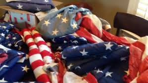 How To Dispose Of Old Flags 12 Year Old Boy Scout Collects Torn Flags For Eagle Project