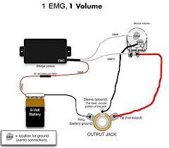 emg wiring diagram 81 85 1 volume tone emg throughout pickups