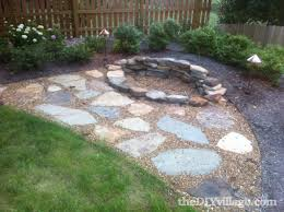 round patio stone diy backyard fire pit ship design
