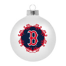 boston red sox hand painted christmas ornament