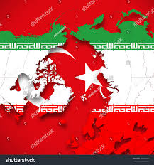 Turkey World Map Turkey Iran Flag World Map Background Stock Illustration 365040578