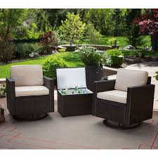 outdoor wicker resin piece patio furniture set with chairs and