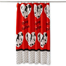 Mickey Bathroom Accessories by Disney Mickey U0026 Minnie Mouse Fabric Shower Curtain Home Bed