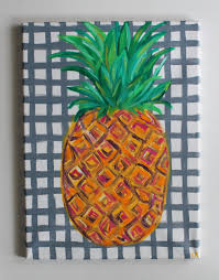pineapple art pineapple painting tropical art abstract