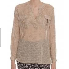 diane von furstenberg silk blouse tops cream and diane von