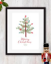 2017 printable kids christmas fingerprint tree craft 5x7