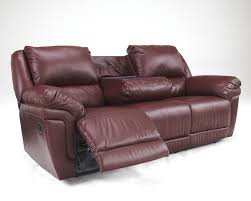 buy ashley furniture magician durablend garnet reclining sofa with