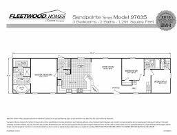 Single Wide Mobile Home Floor Plans 2 Bedroom Fleetwood Homes Single Wide Floor Plans