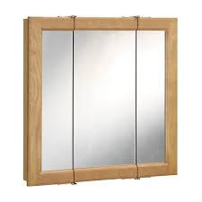 3 mirror medicine cabinet design house richland nutmeg oak 3 door medicine cabinet mirror