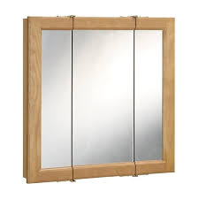3 door medicine cabinet design house richland nutmeg oak 3 door medicine cabinet mirror