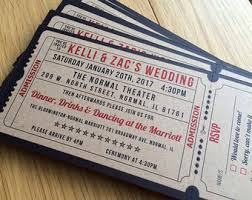 ticket wedding invitations vintage ticket wedding invitation suite cinema theater