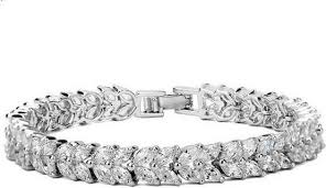 white gold plated charm bracelet images Aigner gold plated bangle with zircon price in dubai uae jpg