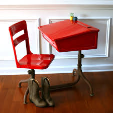 Kid Desk Small Painted Desk And Adjustable Chair For Decofurnish