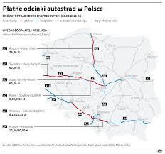 płatne odcinki autostrad w polsce infografika wiadomości