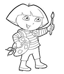 kidscolouringpages orgprint u0026 download dora the explorer