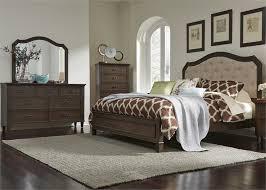 upholstered bedroom set heights panel upholstered bed 6 piece bedroom set in antique