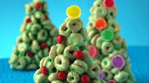 christmas trees cheerios christmas trees recipe bettycrocker