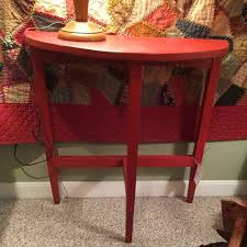 Half Moon Sofa Tables by Vintage Red Half Moon Table 45 New Furniture Forsale Painted