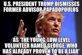 Volunteer Meme - trump dismisses papadopoulos as low level volunteer memenews