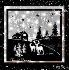 christmas barn scape svg christmas cut file christmas svg