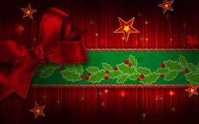 free christmas red ribbon backgrounds for powerpoint abstract
