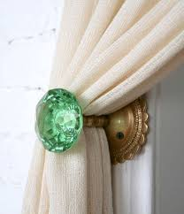 home design green round curtain holdbacks for your curtain