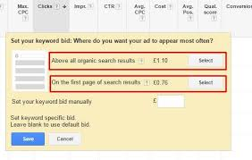 keyword bid adwords offers new bidding suggestions for keywords
