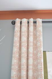 And Orange Curtains Well Appointed Curtains Zdesign At Home