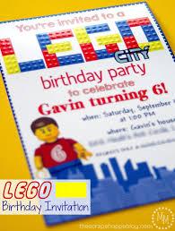 birthday invites unique lego birthday party invitations