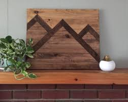 wood mountain wall wood mountain etsy