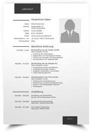 Lebenslauf Vorlage Gratis Professionelle Lebenslauf Muster Und Vorlagen F禺r Bewerbung 2018