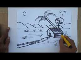 the 25 best natural scenery drawing competition ideas on