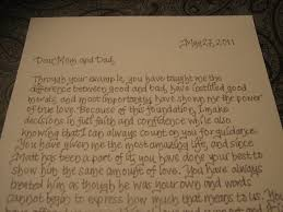 card to groom from a letter from a and groom to their parents a great