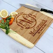 monogramed cutting boards monogrammed cutting boards custommade