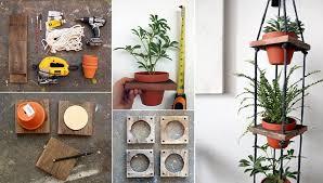diy tiered hanging terracotta pots home design garden