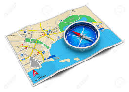 Map Route by Gps Navigation Tourism And Travel Route Planning Concept Color