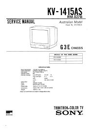 sony kv1415ge service manual immediate download