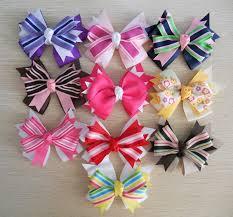 ribbon hair bow simple layered bows ideas bows