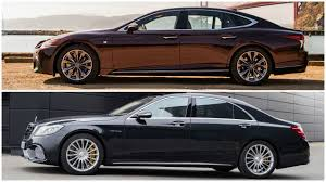 lexus ls 500 coupe 2018 lexus ls 500 f sport vs mercedes s 65 amg youtube