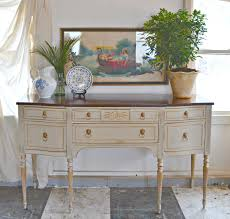 heir and space a federal sideboard in cream and gold