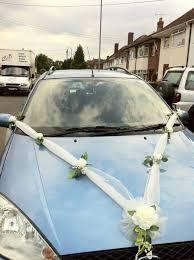 Ribbon Decoration Pinterest Luxury Wedding Car Ribbon Decoration White Roses U0026 Soft Sheen