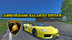 2015 lamborghini gallardo lamborghini gallardo spyder v 1 0 for fs 15 farming simulator