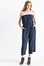 gaucho jumpsuit abbeline sol strapless gaucho jumpsuit south moon