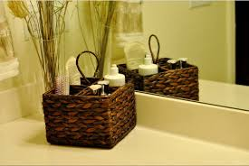 Ideas For Small Bathroom Storage by Homemade Bathroom Makeup Storage On Vanity For Small Bathroom