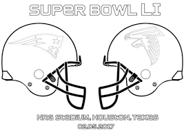 Super Bowl Li New England Patriots Vs Atlanta Falcons Coloring Football Coloring Page