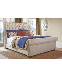 Upholstered Sleigh Bed Deal Alert Windville King Upholstered Sleigh Bed By